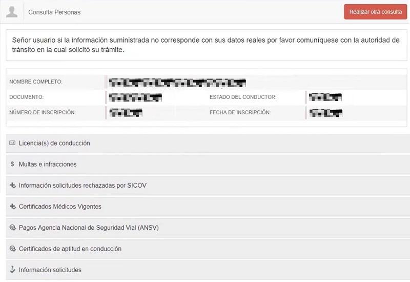 consultar licencia de conduccion colombia runt